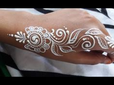 ᴴᴰ White bodypaint Art Designs White Henna, Henna Tattoo Designs, Henna Art, Beautiful Artwork, Body Painting, Tattos, Art Designs, Make It Yourself, Face