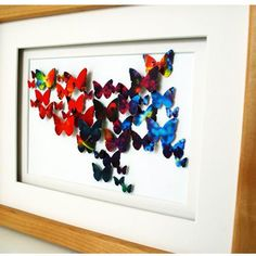 DIY Butterfly Wall Art from Recycled Magazine Pages Butterfly Project, Diy Butterfly, Butterfly Wall Art, Butterfly Cutout, Butterfly Pictures, Upcycled Crafts, Recycled Art, Diy Crafts, Recycled Magazines