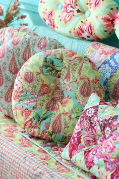 Amy Butler Inspiration - I would fill up a room with her patterns. Love my sewing room, also lots of patterns, a place to create.