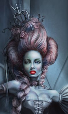 """Queen of Hearts - """" The Temple """" on Behance"""