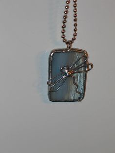Dragonfly Stained Glass Pendant Necklace