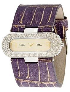 Moog Paris-Smart Damen-Armbanduhr Zifferblatt Champagner Armband Violett Gold Leder Rindleder, hergestellt in Frankreich-m44082-009 - http://uhr.haus/moog-paris/moog-paris-smart-damen-armbanduhr-zifferblatt-in