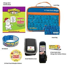 Back To School Lunch Box Kits Food Allergies Epipen Gluten Bracelets Medic Alert