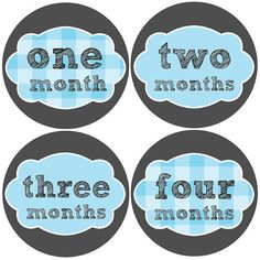 Monthly Baby Stickers Baby Boy Month Stickers by BabyBellyStickers