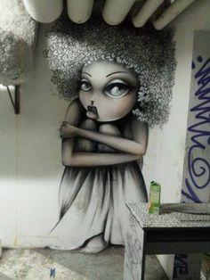 """Artist Vinie """"Paris"""" (http://www.isupportstreetart.com/artist/vinie/)"""