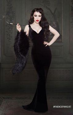 Wedding Dress Black, Wedding Dresses, Full Length Gowns, Floor Length Gown, Gothic Fashion, Vintage Fashion, Edwardian Fashion, 1950s Fashion, Fashion 2018