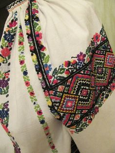 Ukraine, from Iryna Folk Costume, Costumes, Embroidered Blouse, Cross Stitch Embroidery, Color Combinations, Embroidery Designs, Womens Fashion, How To Wear, Shirts
