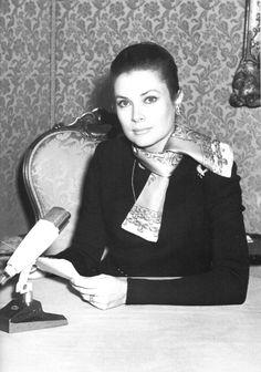 "Princess Grace of Monaco speaking on ""Radio Monte-Carlo"" (RMC) on December 20, 1968."