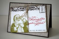 stampin' up wunschzettel postcard