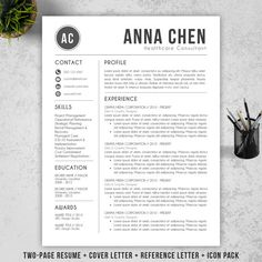 Resume Template CV Template Cover Letter for MS door ResumeBook