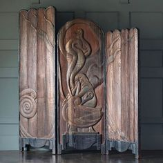 """""""Would you be shocked if I put on something more comfortable?"""" #JeanHarlow  1920s carved 3 panel screen #BlackmanCruz"""