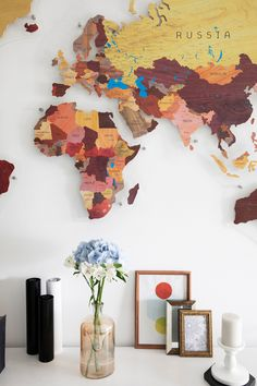 Brown & Orange World Map for Children by GaDenMap. Push Pin travel map for wall decor in office room, bedroom, living room, kid's room decorating. Unique gift idea for travelers. Kids World Map Wall Art, World Map Wall Mural Kids, Kids Room Décor, PVC Map for Home Décor, World Map Wall Art Kids #mapwalldecor #babyroomdecor #livingroomdecor