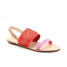 Perfect for a beach vacation. Pair with white shorts and a summer hat. Loeffler Randall Dree Woven Sandal | Sandals | LoefflerRandall.com