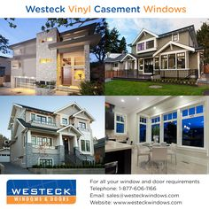 We offer 5 different flanges and Brickmould options, a vinyl sill, and a vinyl composite jamb liner. All of these can be painted to match the rest of your windows and doors! For more information please contact us Casement Windows, Windows And Doors, Wood Doors, Entryway, Rest, Patio, Mansions, House Styles, Modern