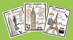 travel-theme-posters-travel-theme-wall-decorations - paris, london, new york, milan, italy, france