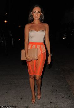Tangerine dream! Megan McKenna showed off her impressive tan as she hit the town for a night out on Saturday
