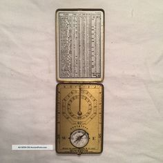Sunwatch - Compass - Clock Co. - Brass - Antique - Old - Vintage - Collectible Compasses photo