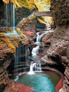 Watkins Glen State Park is the most famous of the Finger Lakes State Parks, with a reputation for leaving visitors spellbound. It is miles of natural beauty, waterfalls and gorges that words cannot do justice. You have to go and see this natural marvel. State Parks, Places Around The World, Around The Worlds, Watkins Glen State Park, Adventure Is Out There, Beautiful Landscapes, Beautiful Waterfalls, Beautiful Scenery, Stunningly Beautiful