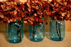 Set of 3 Limited Edition Ball Mason Jars by PineknobsAndCrickets, $13.50