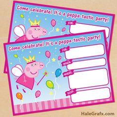 peppa pig invite FREE Printable Princess Fairy Peppa Pig Birthday Invitation