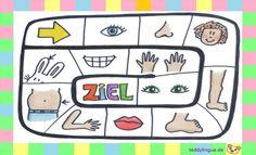Brettspiel Körperteile Teaching, Comics, German Language, Daycare Ideas, Kindergarten Games, Ambulance, Sleep Better, Perception, Board Games