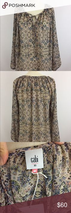 CABI sienna blouse, Sz XS spring 2016 CABI Blouse. Spring 2016 style. New with tags. CAbi Tops Blouses