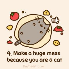 Apparently Pusheen the Cat is a super-popular blog by writer/artist Claire Belton, about a fat cat called Pusheen who eats and sleeps all day long - like every other cat on the planet! Description from goodreads.com. I searched for this on bing.com/images
