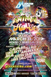 Amplified Access & Organized Grime presents: Animal House - http://www.eventsubmit.net/event.php?id=19910=type%3D%26search%3Danimal%2Bhouse #Music #SanDiego #HOB (SAN)