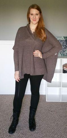 RetroD Cavallo Poncho Sweater