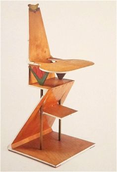 High Chair - 1944 - Gerrit Thomas Rietveld - 24 June 1888–25 June 1964, was a Dutch furniture designer and architect. One of the principal members of the Dutch artistic movement called De Stijl.