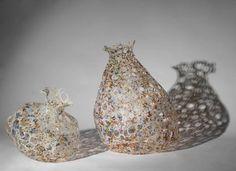 Caroline Saul: Recycled Plastic Milk Bottle Art