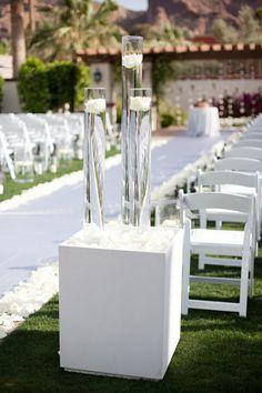 Stunning White Arizona Wedding from Stephanie Fay Photography - wedding ceremony idea
