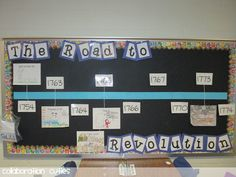 Road to Revolution Bulletin Board- Assign students or groups different dates and have they draw the events that happened.