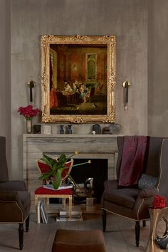 Why the Old Masters Are At Home in Interiors Masters, Create Space, Old Master, Wingback Chair, Beautiful Paintings, Contemporary, Modern, 21st Century, Accent Chairs