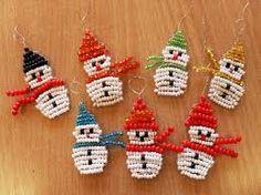 Výsledek obrázku pro šikulové výrobky Beads, Christmas Ornaments, Holiday Decor, Winter, Home Decor, Beading, Winter Time, Decoration Home, Room Decor