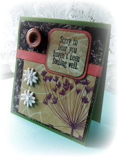 GET WELL card Handmade get well card Hope you by BennBooCreations
