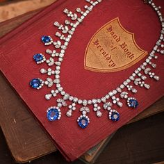 Harry Winston Diamond and Sapphire Fringe Necklace