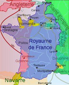 Carte de France et du sud de l'Angleterre en 1330 soulignant l'influence anglaise sur tout l'ouest de la France, notamment la route du sel Philippe V roi de France et de Navarre 19 nov 1316-3 janv 1322 (5 ans, 1 mois et 14 jours) né en 1293 à Lyon, mort le 3 janv 1322 à Paris, conjoint Jeanne de Bourgogne., Enfants:Jeanne de France, Marguerite de France, Isabelle de France, Blanche de France..