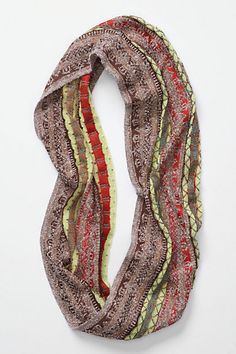 Anthropologie -- this loop scarf would make anything pretty.