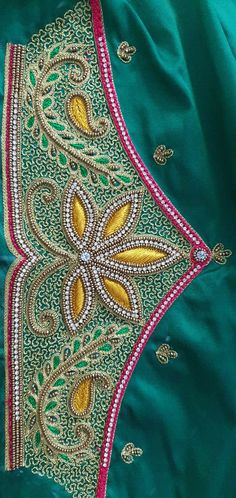 Fancy Blouse Designs, Bridal Blouse Designs, Silk Bangles, Aari Work Blouse, Sleeve Designs, Embroidery Designs, Indian Embroidery, Bruges Lace