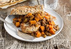 Maple Baked Lentils with Sweet Potato--I made this for dinner tonight. SO good!