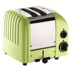 DUALIT 2 Slice NewGen Classic Toaster Lime Green $199.95 LOWEST PRICE ANYWHERE-GUARANTEED...PICK UP OR WE WILL SHIP FREE WORLDWIDE... 100% MONEY BACK SATISFACTION GUARANTEE www.shopculinart.com