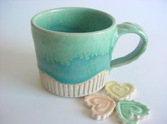 carved cup, handmade stoneware pottery
