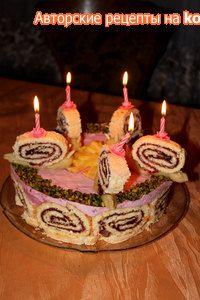 Фото к рецепту: Торт  Весёлые улитки