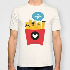 French Fries T-shirt by Reg Silva / Wedgienet.net - $22.00