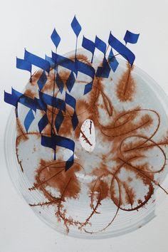 """Ani lédodi védodi li - BLEU MARRON (from <a href=""""http://www.script-sign.com/galerie/picture.php?/516/category/calligraphie_hebraique_sur_papier"""">Galerie de calligraphies hébraïques / hebrew calligraphy gallery</a>)"""