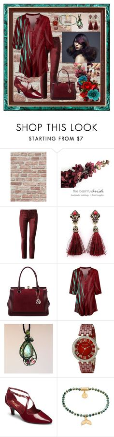"""Chic Winter Red And Teal"" by aurorasblueheaven ❤ liked on Polyvore featuring Paige Denim, MKF Collection, Simply Aster, Anne Klein, Aerosoles and Spartina 449"