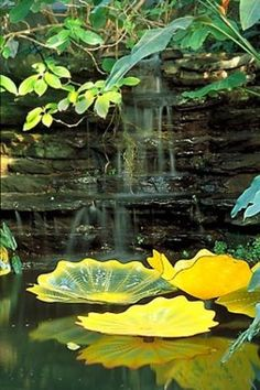 Dale Chihuly. Always amazing. Persian Pond... | Wallace Gardens. Glass lily pads