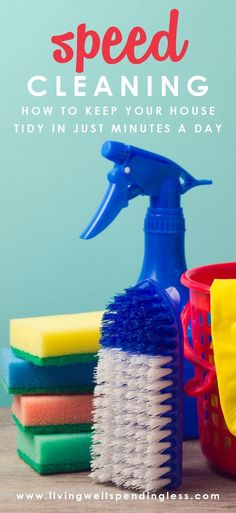 Speed #Cleaning Hacks to Keep Your Home Neat and Tidy on Little Time! via lwsl