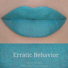 Erratic Behavior Liquid Lipstick Matte Attack by BeautyBarBaby Blue Lipstick, Lipstick Colors, Liquid Lipstick, Lip Colors, I Love Makeup, Lip Makeup, Beauty Makeup, Pretty Makeup, Makeup Art